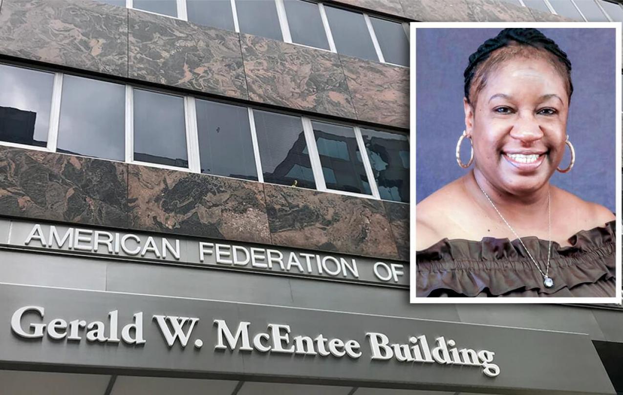 Gerald W. McEntee Building and Katrice Sawyer